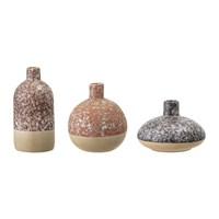 Bloomingville Stoneware Vase Set Set Of 3 Orange