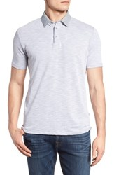 Stone Rose Flame Knit Polo Grey
