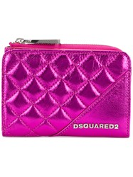 Dsquared2 Quilted Purse Pink Purple
