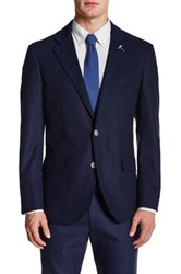 Tailorbyrd Solid Notch Collar Sportcoat Blue