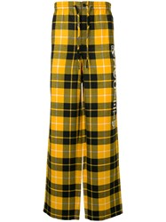Alexander Wang Luxe Pajama Trousers Yellow And Orange