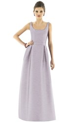 Women's Alfred Sung Scoop Neck Dupioni Full Length Dress Jubilee