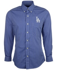 Antigua Men's Long Sleeve Los Angeles Dodgers Button Down Shirt