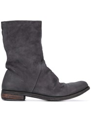 A Diciannoveventitre Zipped Boots Men Horse Leather Leather 44 Black