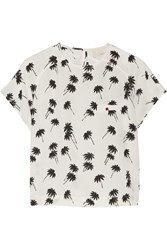 Band Of Outsiders Printed Silk Crepe Top White