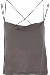 Koral Compass Draped Stretch Jersey Tank Anthracite