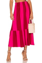 Mds Stripes Knit Skirt Pink