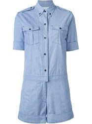 Isabel Marant A Toile 'Wei' Playsuit Blue