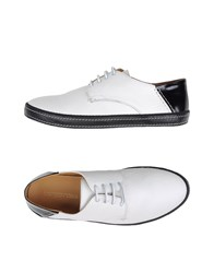 Sergio Rossi Footwear Lace Up Shoes Men White