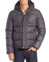 7 For All Mankind Quilted Hooded Down Jacket