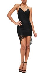 Missguided Women's Lace Up Back Lace Dress