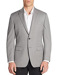 Calvin Klein Slim Fit Micro Gingham Wool Sportcoat Grey