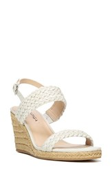 Via Spiga Women's Indira Wedge Sandal White Leather