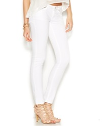 Guess Low Rise Power Skinny Jeans Optic White Wash