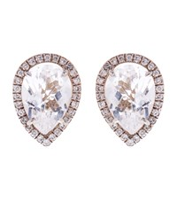 Susan Foster Diamond And Topaz White Gold Earrings