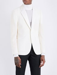 Paul Smith Soho Fit Mohair And Wool Blend Jacket White