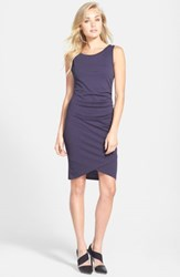 Leith Ruched Body Con Tank Dress Navy Dusk