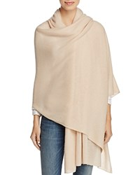 Bloomingdale's C By Cashmere Wrap 100 Exclusive Nude