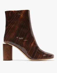 Acne Studios Allis Wood Boot Acajou Brown