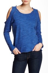 Nation Ltd. Clara Cold Shoulder Sweatshirt Blue
