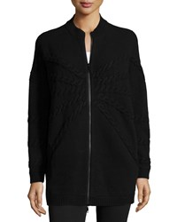 Lafayette 148 New York Oversized Cable Knit Cardigan Black Women's
