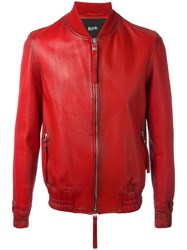 Blood Brother Guard Bomber Jacket Red