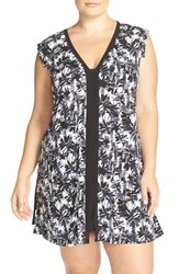 Plus Size Women's Midnight By Carole Hochman V Neck Jersey Chemise