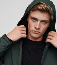 Reiss Cassidy Lightweight Hooded Jacket In Green Mens