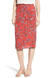 Cupcakes And Cashmere Women's Destin Floral Print Skirt