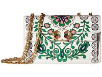 Tory Burch Gemini Link Printed Chain Shoulder Bag Garden Party Shoulder Handbags Bone