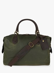 Barbour Wax Cotton Travel Explorer Holdall Archive Olive
