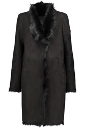 Karl By Karl Donoghue Toscana Shearling Coat Black