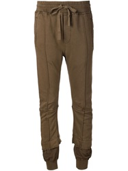 Haider Ackermann Layered Slim Fit Track Pants Brown