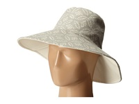 Hat Attack Canvas Reversible Sunhat Grey Dot Traditional Hats Gray