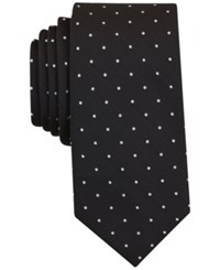 Bar Iii Men's Canyon Dot Skinny Tie Only At Macy's Black