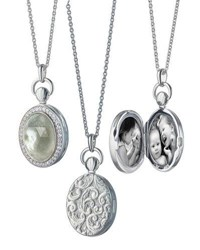 Monica Rich Kosann Prasiolite Mother Of Pearl Locket Necklace