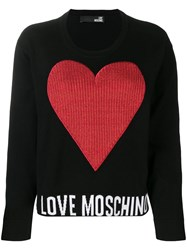 Love Moschino Heart Patch Sweatshirt Black
