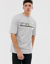Only And Sons Oversized T Shirt In Grey Melange Green