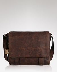 Frye Logan Messenger Bag Dark Brown