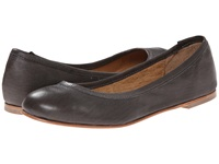 Type Z Carina Grey Leather Women's Flat Shoes Gray