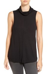 Cupcakes And Cashmere 'Dustin' Sleeveless Cowl Neck Top Black