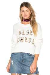 Wildfox Couture Elsewhere Sweater Ivory
