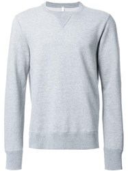 Attachment Crew Neck Sweatshirt Grey