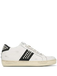 Leather Crown Iconic Sneakers White