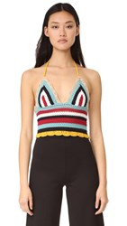 Red Valentino Crochet Tank Top Multi