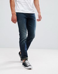 Tom Tailor Regular Fit Jeans In Dark Wash With Abrasions 1318 Blue