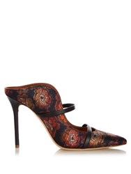 Malone Souliers Maureen Floral Jacquard Mules Navy Multi