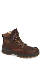 Ecco Track 25 Gore Tex Moc Toe Boot Brown Camel Leather