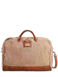 Numero 10 Weekender Cotton And Leather Bag Brown