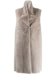 Manzoni 24 Sleeveless Coat Grey
